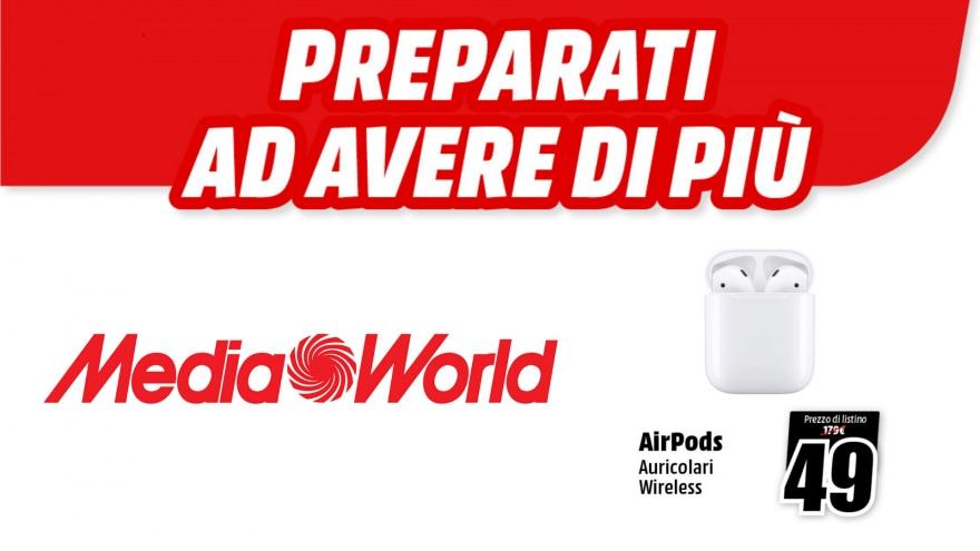 Promo MediaWorld: chi prenota iPhone 13 può ricevere gli AirPods a 49€