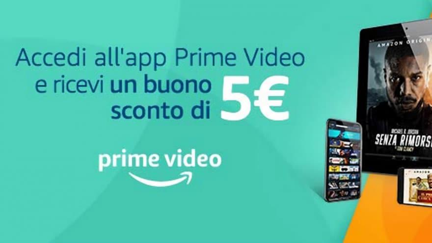 Prime Video regala 5€ di Sconto Amazon ad alcuni clienti: avete ricevuto l'email?