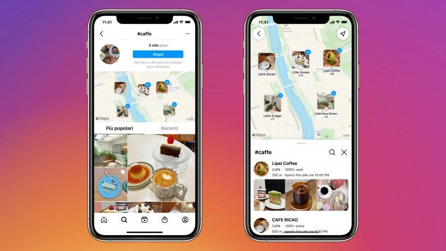 """Instagram vuole fare concorrenza a Google Maps con """"Cerca sulla Mappa"""""""