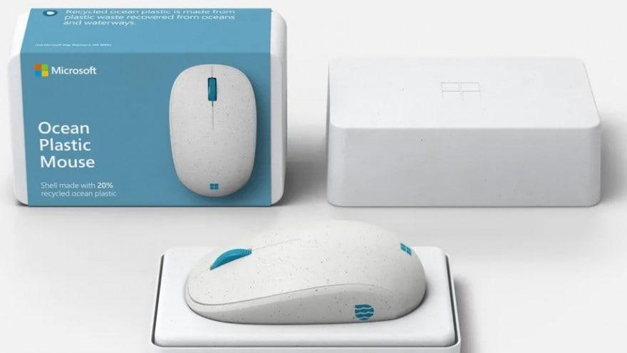 Il nuovo mouse di Microsoft è fatto con plastica riciclata recuperata dall'oceano