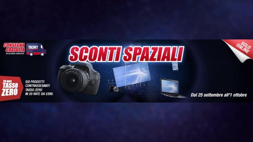 """Offerte Trony """"Sconti Spaziali"""" fino al 1° ottobre: smartphone a basso costo in sconto"""