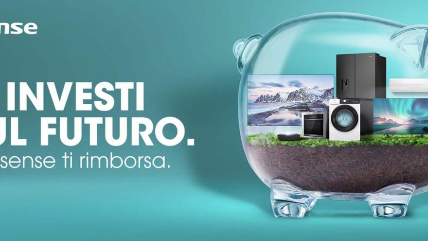 Promo Hisense: rimborsi fino a 500€ per chi acquista un prodotto del marchio, tra cui Laser TV, TV ed elettrodomestici