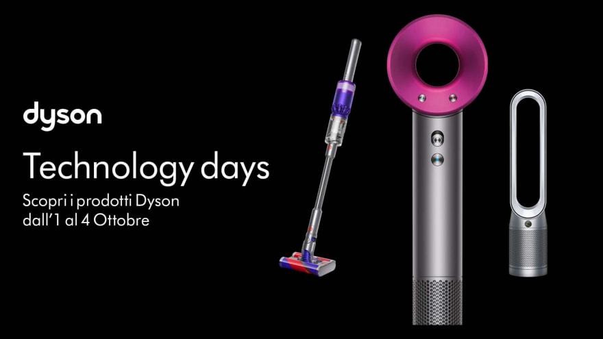 """Offerte Unieuro """"Dyson Days"""" 1-4 ottobre: scope elettriche e robot di pulizia in sconto"""