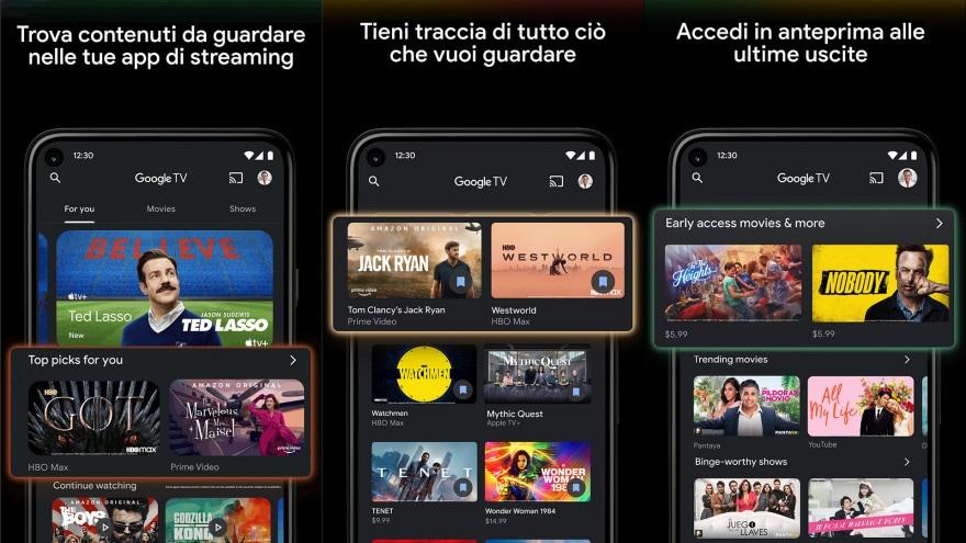 L'app Play Film su Android è ora Google TV: cosa cambia, e cosa no