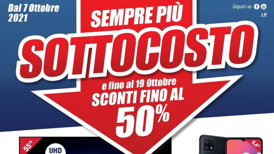 """Volantino Trony """"SOTTOCOSTO"""" 7-19 ottobre: ribassi del 50% e doppio Bonus TV"""