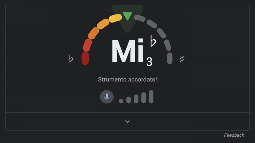 Google ora accorda la vostra chitarra (o la vostra voce)