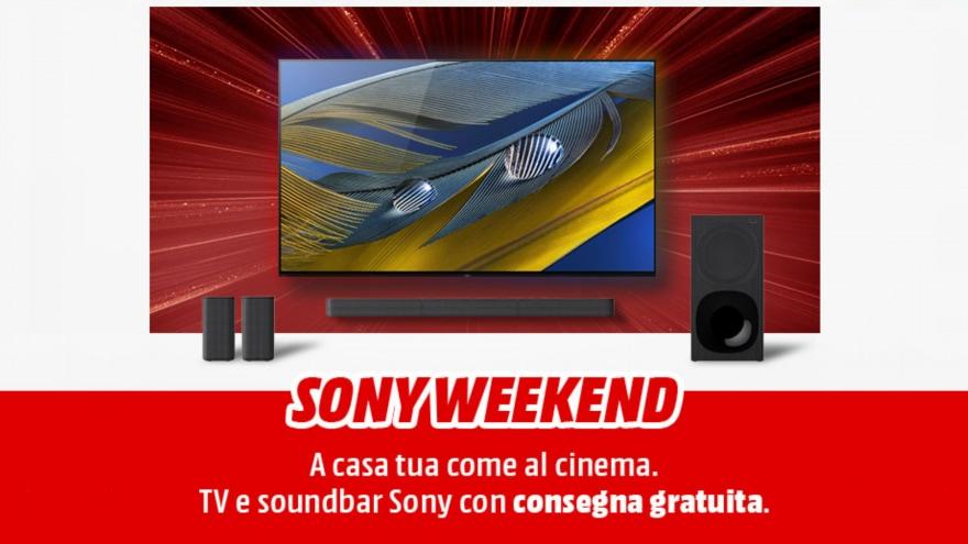 "Offerte MediaWorld ""Sony Weekend"" 8-10 ottobre: Smart TV e Soundbar in forte sconto"