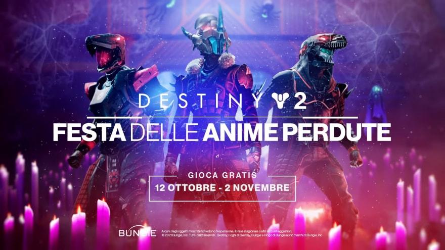 Destiny 2, torna la Festa delle Anime Perdute, gratis per tutti i giocatori