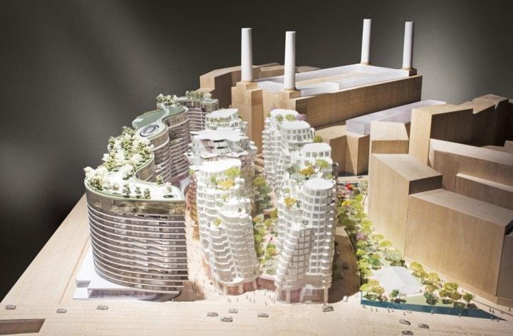 Un progetto per riqualificare la centrale elettrica di Battersea a Londra