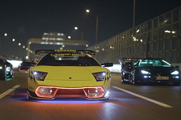 Yakuza e Lamborghini al neon