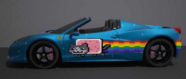 Deadmau5 mette in vendita la sua Ferrari dedicata a Nyan Cat (video)