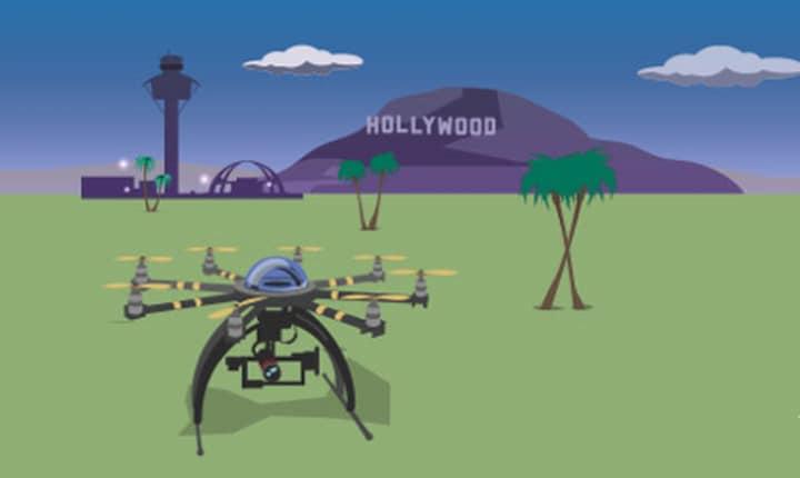 droni per riprese film