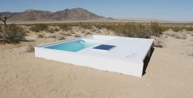 La piscina segreta nel deserto del Mojave