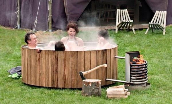 Accessori per giardino - sauna ricaldata a legna