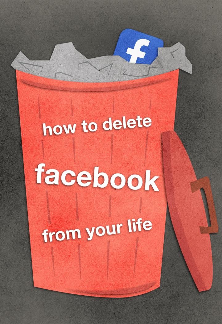 Come rimuovere completamente Facebook dalle vostre vite