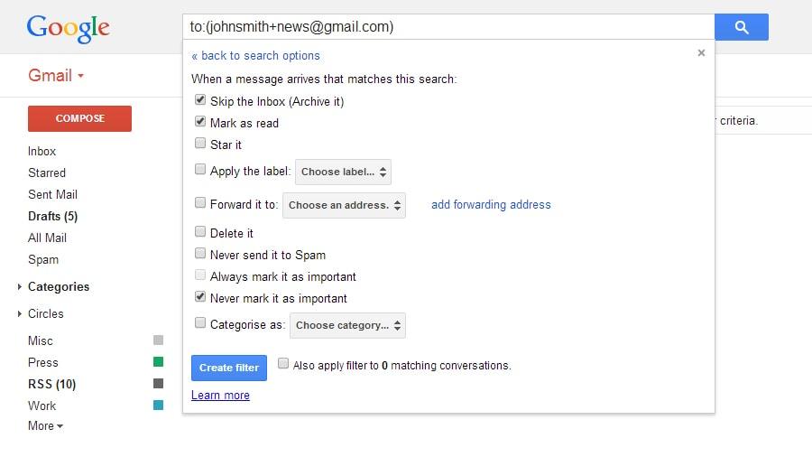 Sfruttare infiniti indirizzi gmail (2)