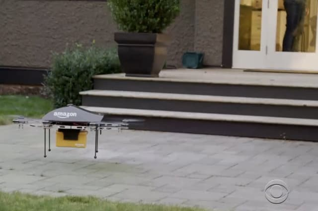 amazon test droni per consegne
