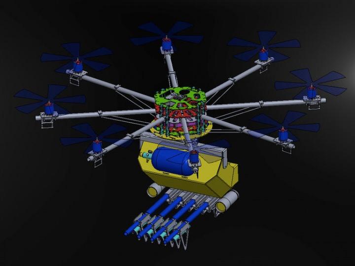 Il drone che placa le rivolte con laser stordenti e spray al peperoncino