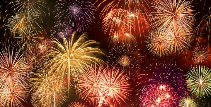 foto fuochi d'artificio smartphone
