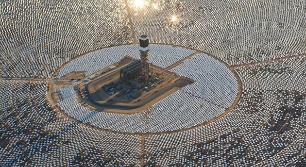 centrale solare uccelli
