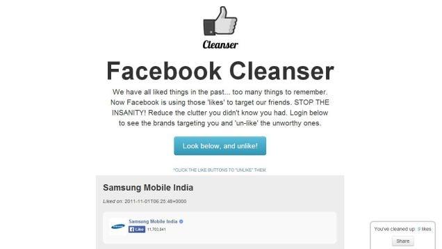 facebook cleanser