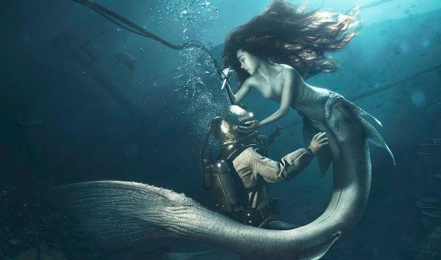 L'incredibile foto di una sirena