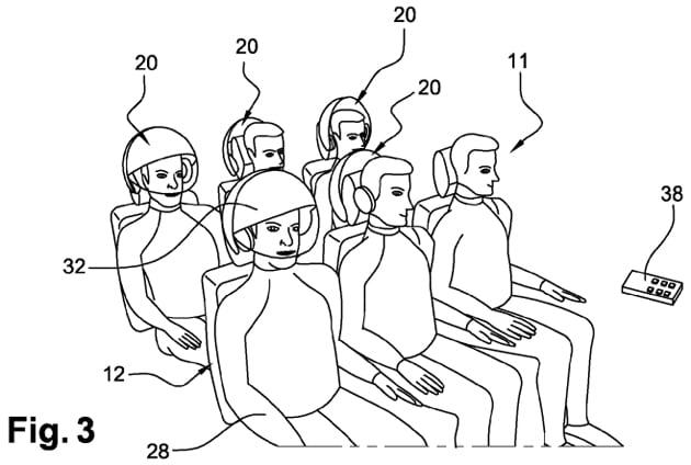 Airbus brevetta un casco per non essere disturbati in volo