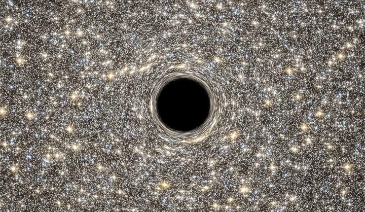 Un buco nero al centro di una galassia ultra densa