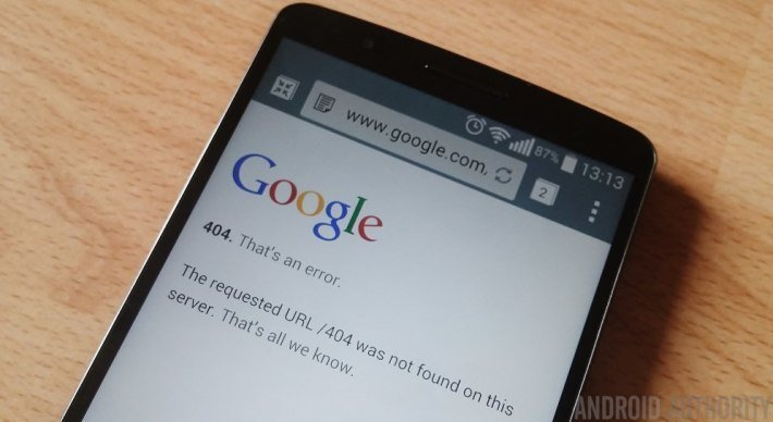 google vuole uccidere errore 404