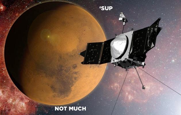 La sonda NASA MAVEN entra nell'orbita di Marte (video)