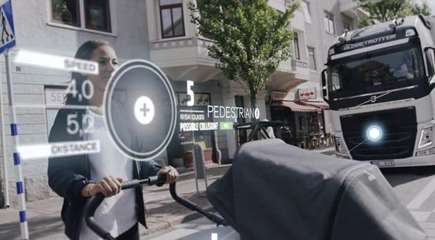 Volvo è al lavoro su un sistema di sicurezza per camion che scansiona la strada (video)