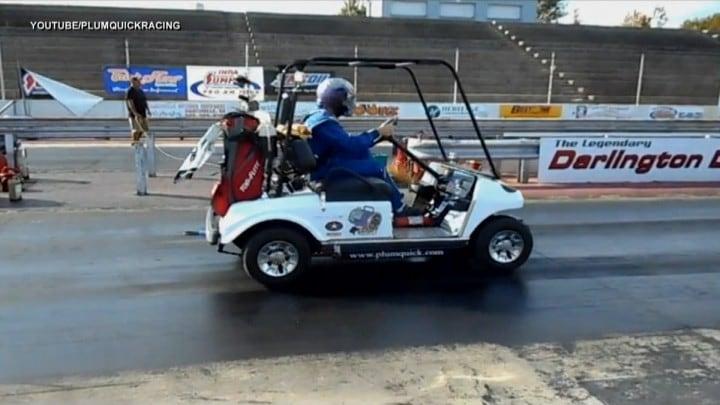 golf cart record velocità