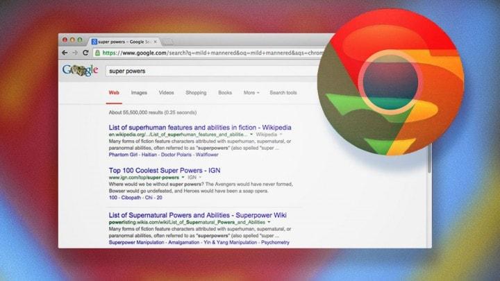 super poteri barra ricerca chrome