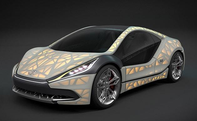 Light Cocoon, l'auto di stoffa con intelaiatura stampata in 3D