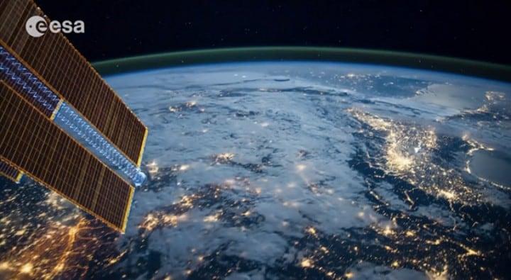 time lapse terra spazio
