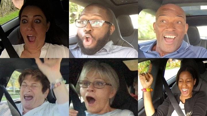 Ecco come reagiscono le persone all'Insane Button delle auto Tesla (video)