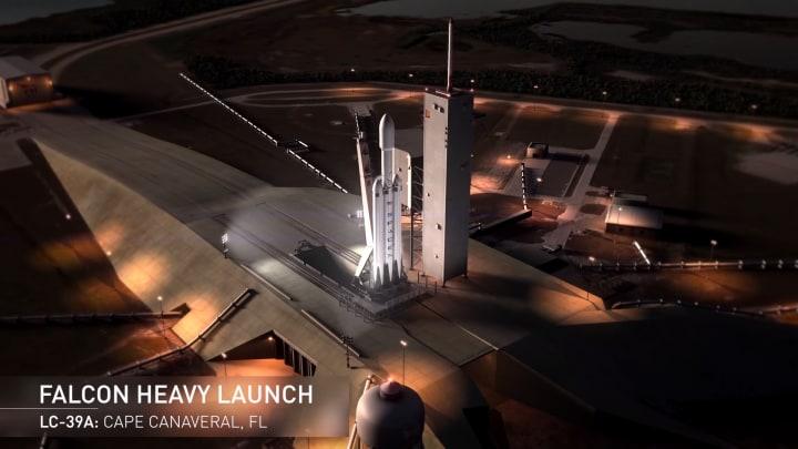 Il gigantesco razzo Falcon Heavy decollerà nella primavera 2016 (video)