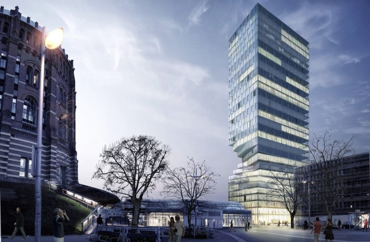 Il grattacielo clessidra, perfetto per l'ambiente urbano (foto)