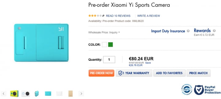 Xiaomi Yi Sport Camera ibuygou