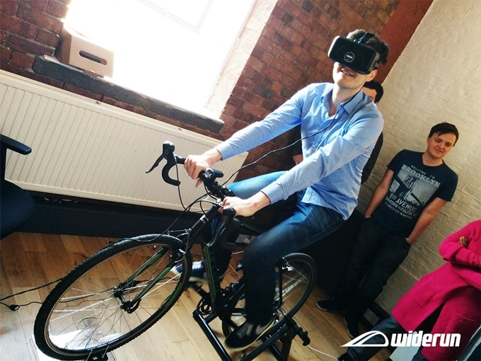 widerun bicicletta realtà virtuale