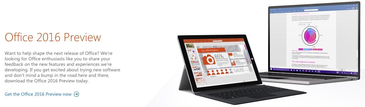 Microsoft Office 2016: disponibile la preview, ecco come installarla