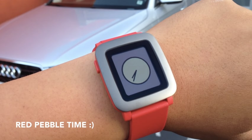 Pebble time rosso