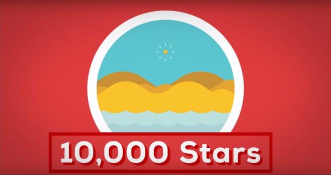 Nell'universo ci sono 10.000 stelle per ogni granello di sabbia sulla Terra!