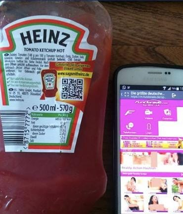 Heinz hot QR code