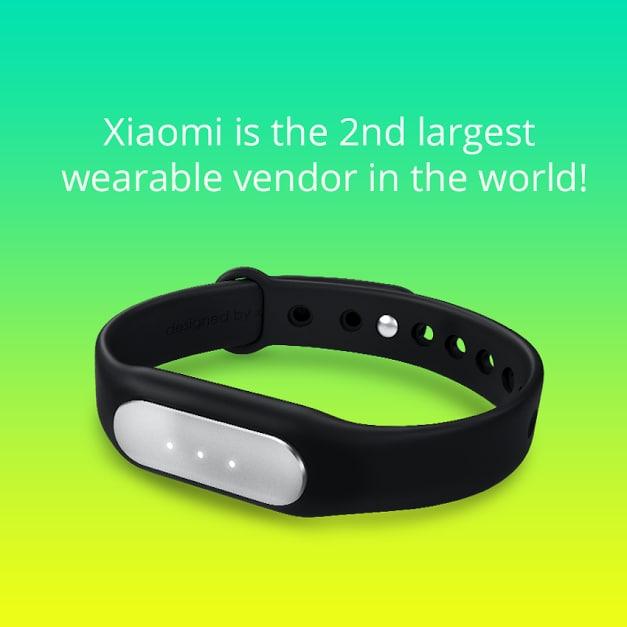 Xiaomi wearable vendite