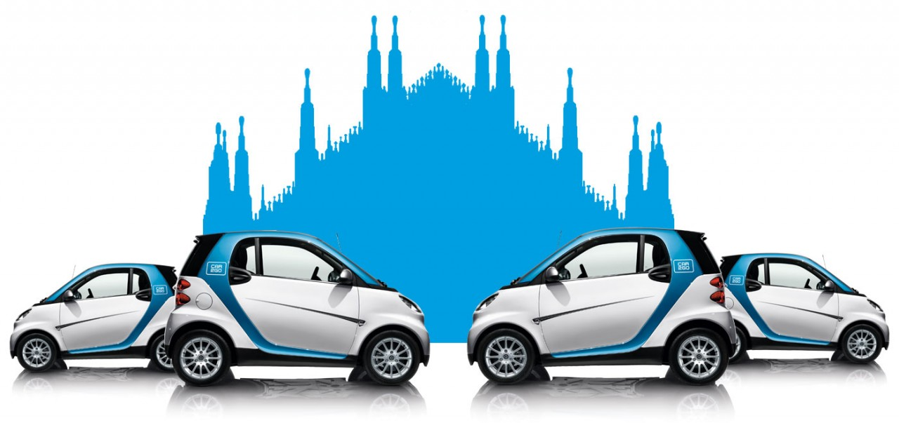 Car sharing anche fuori città: il servizio sbarca a Milano