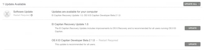 os x el capitan beta 2