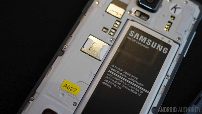 Galaxy Note 4 batteria