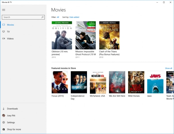 Microsoft Movies-TV