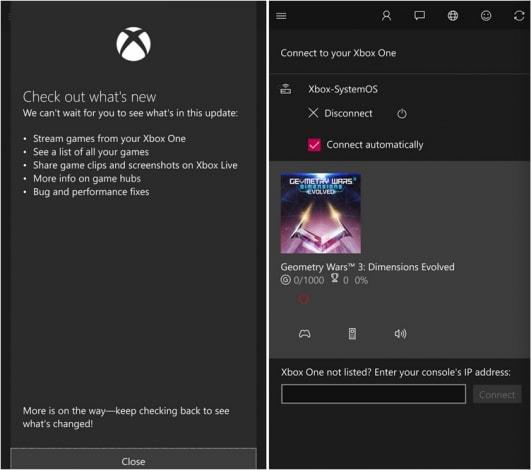 Xbox app - Streaming giochi Windows 10